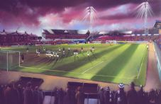 Starks Park Raith Rovers  20'' x 30'' approx poster print